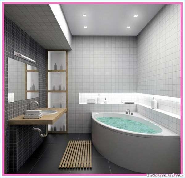 Banyo dekorasyonu fikirleri 2018 dekorcennet com - Banyo dekorasyon ...