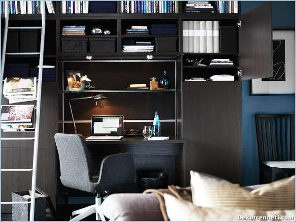 modern-dark-desk-and-grey-swivel-chair-under-black-bookshelves-for-stylish-small-workspace-designs27764163