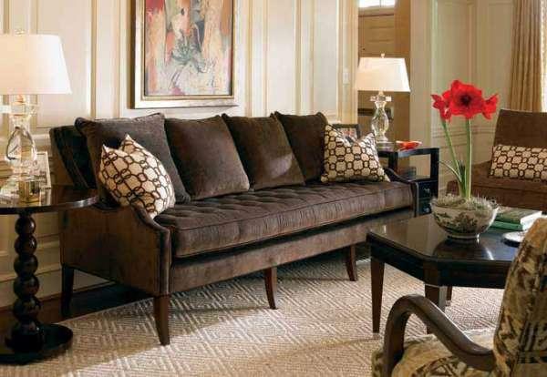 kahverengi koltuklu salon dekorasyon modelleri 2019 dekorcennet com. Black Bedroom Furniture Sets. Home Design Ideas