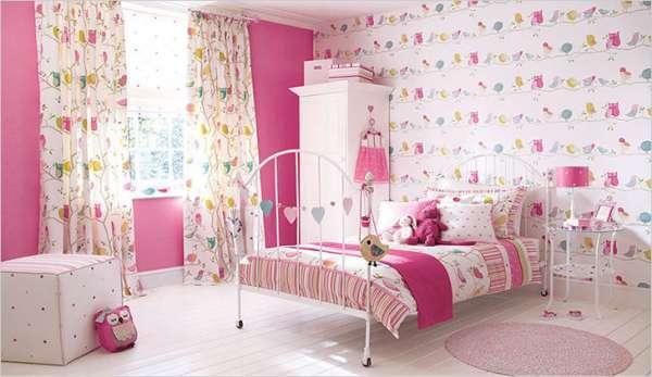 duvar-kagitli-kiz-cocuk-odasi-dekorasyon-fikirleri