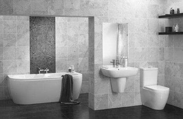 Gri Beyaz Banyo Dekorasyonu 2018 Dekorcennetİ Com