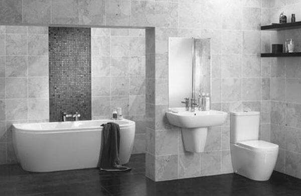 Gri Beyaz Banyo Dekorasyonu 6 May S 2018 Dekorcennet Com