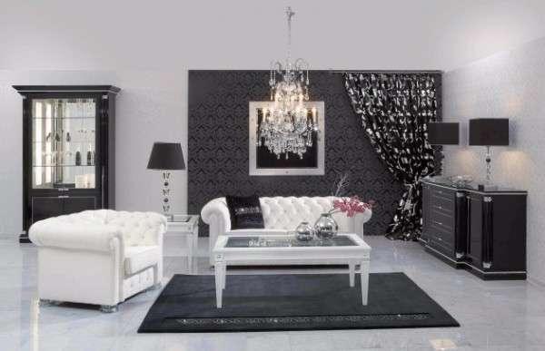 Siyah Beyaz Oturma Odasi Dekorasyonu Ornekleri 2019