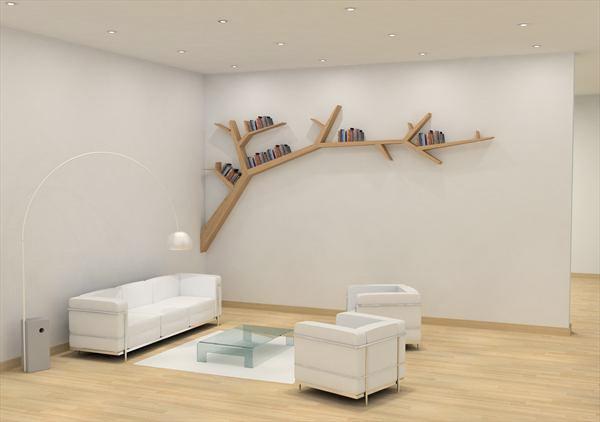 ağaç şeklinde dekoratif raf