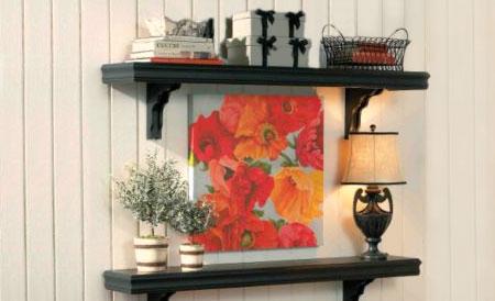 klasik dekoratif raflar