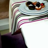 çizgili mutfak masa örtüsü