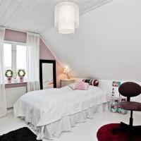 beyaz genc odası dekorasyonu
