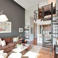 dubleks ev oturma odası dekorasyonu