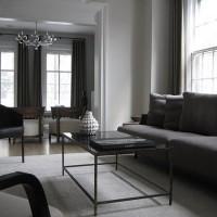 gri ile dekore edilen oturma odaları