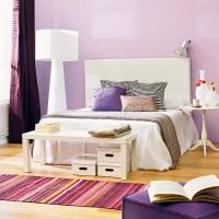 lila genc odası dekorasyonu