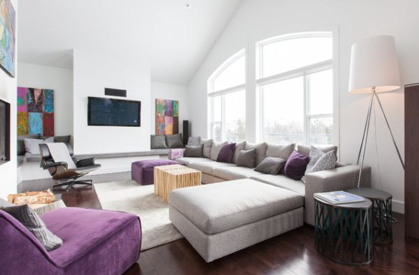 Dekorasyonda mor renk nas l kullan l r 29 nisan 2018 for Modern day home decor