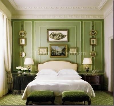 Дизайн маленькой зеленой спальни фото