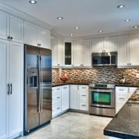 beyaz dekorasyonlu u mutfak