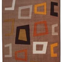geometrik desenli modern halı modelleri