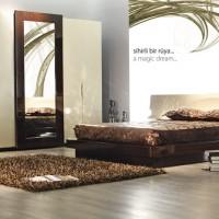 zebrano mobilya karamel yatak odası takımı 200x200