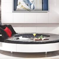 zebrano mobilya yuvarlak yatak modeli 200x200