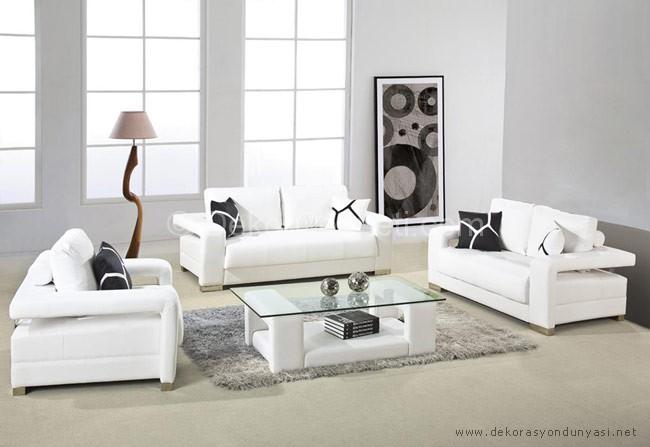 Modern Beyaz Koltuk Takm Modelleri 3 Nisan 2018